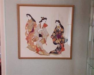 Nice selection of Oriental prints framed