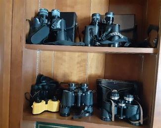 Nice selection of vintage binoculars