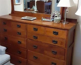 Bent wood mission oak dresser with mirror $1200