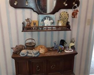 Nice selection of cat collectibles