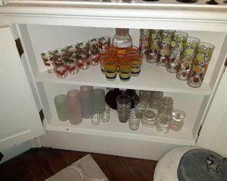 Retro kitchen glassware barware