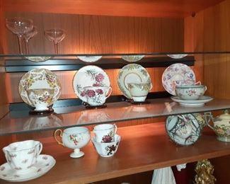 English bone china tea cups