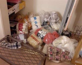 Large supply of knitting yarn