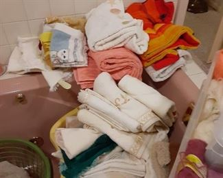 Lots of towels and linens