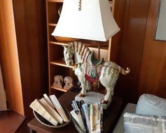 Oriental Horse Table Lamp