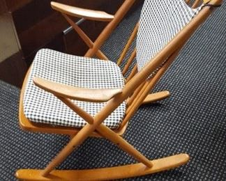 Mid Century Frank Reenskaug Danish Modern Teak Rocking Chair