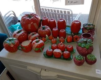 Occupied Japan Tomatoes and Strawberries $3 each