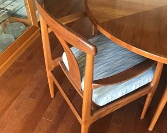 Back side of MCM teak chairs