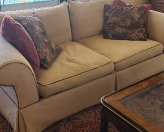 Cream color matching sofas (2)