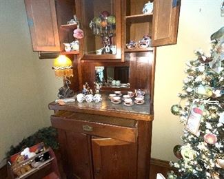 Display cabinet with marble $2,195