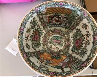Chinese bowl decorated inside and out