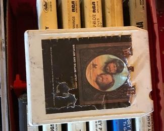 Lots of 8 track audio tapes.