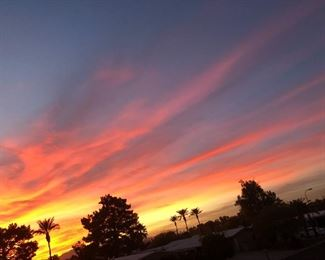 Gorgeous sunset. Not for sale