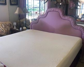 King size mattress. Serta memory foam.  Includes box spring and frame.