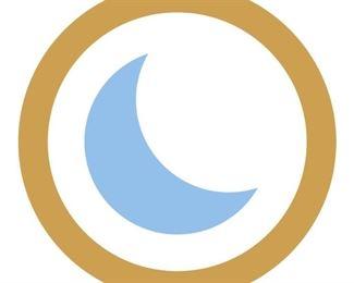 Blue moon white background
