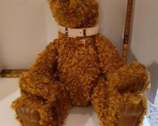 Ben's Bear.  X Large brown bear with pink collar.