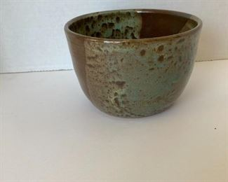 Signed pottery bowl by Karen 2003