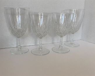 Crystal wine glasses.  4 small and 4 large
