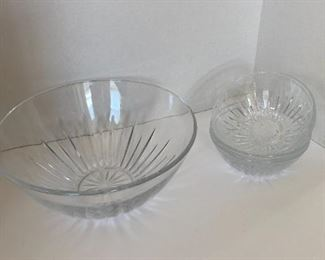 Crystal and glass bowls