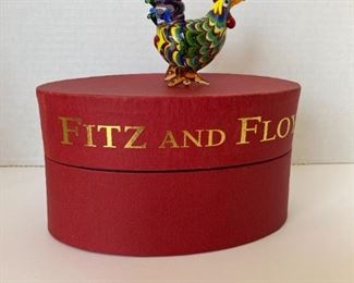 Fitz and Floyd glass rooster