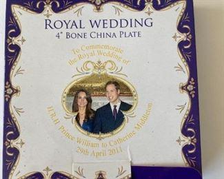 Royal Wedding china plate .  Small
