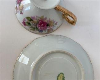 Beautiful tea cup and saucer