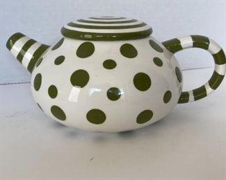 Cute polka dot tea pot