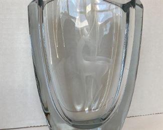 Heavy Lead vase - signed