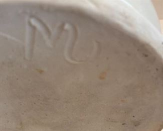 Stoneware Kerosene lantern - signed