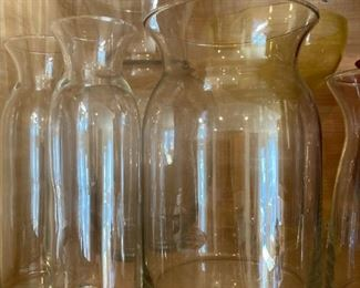 Variety of glass vases