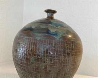 Unique hand made vase.  Signed