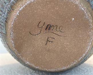 Signed pottery - YMC