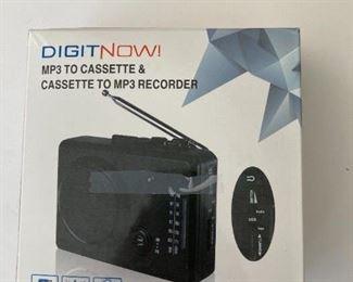 Cassette to MP3 recorder.  NIB