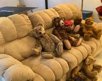 Large Double Recliner Sofa