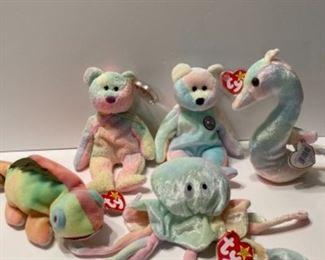 Variety of Beanie Babies
