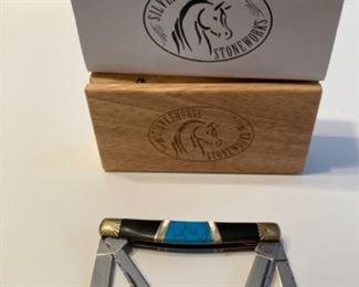 Silverhorse Stoneworks Turquoise Pocket knife