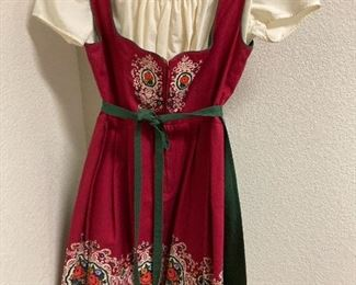 Vintage dress with apron