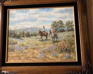 Renne Hughes Cowboy painting