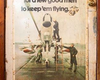 Metal Vintage Marine Corps Advertisement Sign