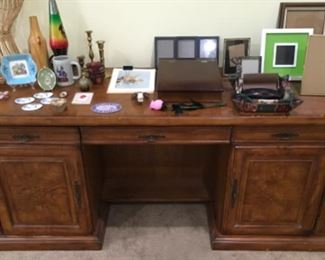 WOOD DESK AND OFFICE ITEMS
