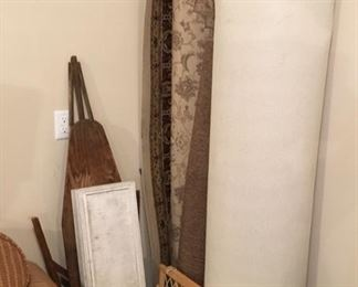 RUGS & ANTIQUE IRONING BOARD