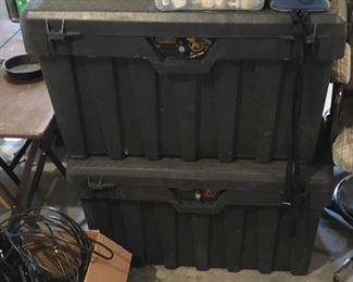 LARGE LOCKING PICK UP TOOL OR STORAGE CHESTS