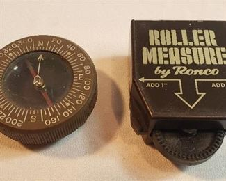 Vintage Corps of Engineers US Army Compass and Roller Measure by Ronco