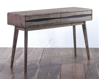 Weathered-Look Stylized 2-Drawer Console Table