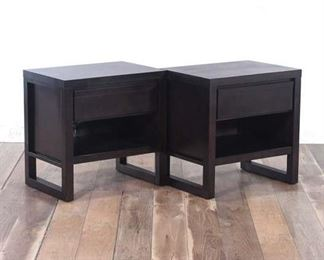 Pair Of Nightstands Each With 1 Drawer, 1 Shelf