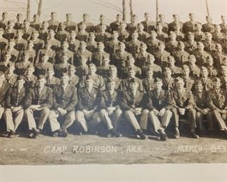 038r3 1943 Camp Robinson Company Photo