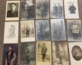 111r2c3 Old Military Officers Photo Postcards