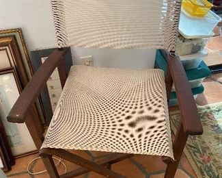 Wood and Canvas directors chair
