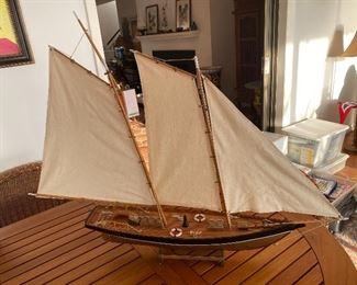"Model Sail boat America 1890 26"" long X 37"" tall"