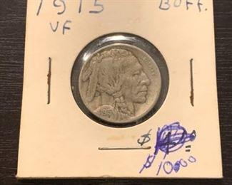 001 1915 VF Buffalo Head